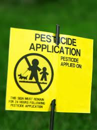 pesticide application sign