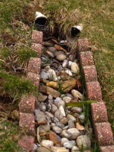 How i solved drainage problems in my yard pt 3 for Rainwater drain problems