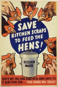 save kitchen scraps poster