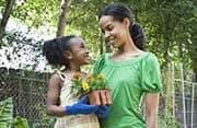 mother daughter gardener
