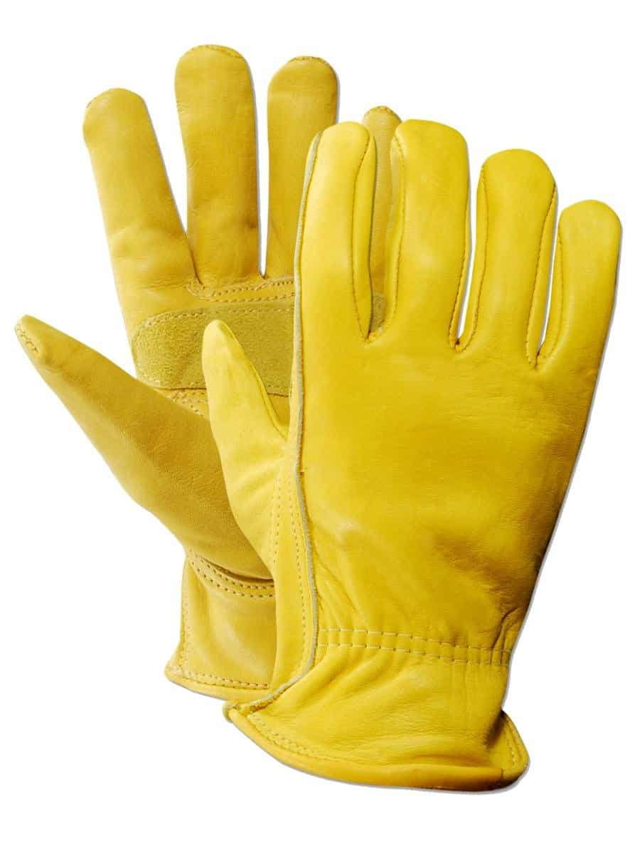 Bionic leather work gloves -  Ozero Work Gloves Safety Garden Gloves Leather Welding Protective Bionic